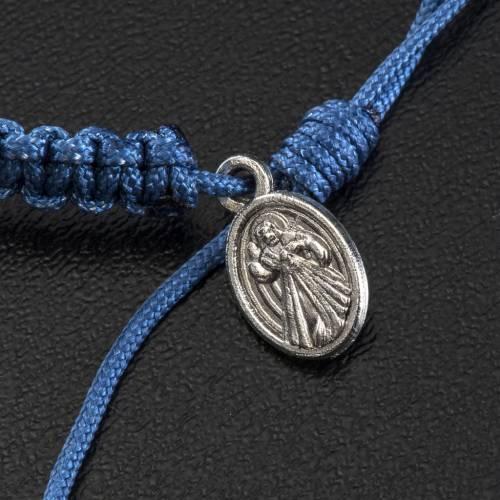 Bracelet Medjugorje pierre corde bleue s4