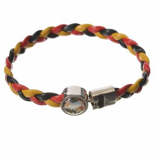 Bracelet tressé 20 cm Ange jaune/noir/rouge s1