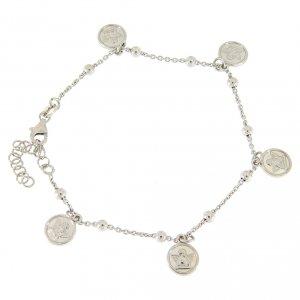 Silver bracelets: Bracelet with pendant angels in 925 sterling silver