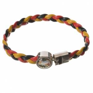Braided bracelet, 20cm yellow, black, red Angel s1