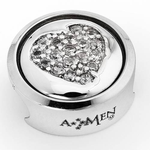 Breloque pour bracelet AMEN Coeur Je t'Aime s1