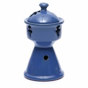 Bruciaincensi: Bruciaincensi etiope ceramica blu