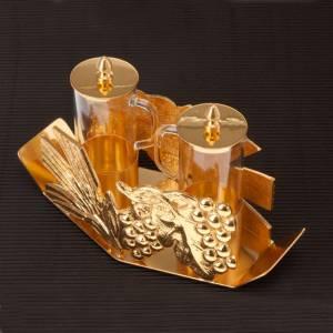 Burettes liturgiques en métal: Burettes épis de blé et raisin
