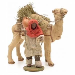 Belén napolitano: Caballero moresco y camello 10 cm.