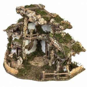 Cabaña tipo refugio con accesorios para pesebre 40x58x38c s5