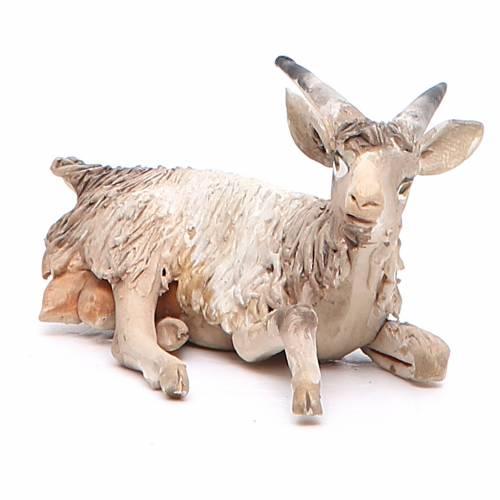 Cabra sentada Belén 13 cm Angela Tripi terracota s2