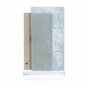 Cadre Ange papier soie bleu clair h 11,5 cm s2