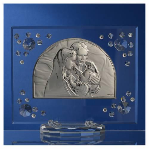 Cadre arc image Ste Famille Swarovski blanc s2