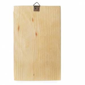 Cadre en bois avec impression Notre-Dame de Medjugorje 17x11 cm s2