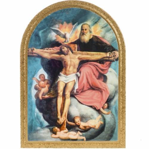 Cadre imprimé sur bois Sainte Trinité De Sacchis s1