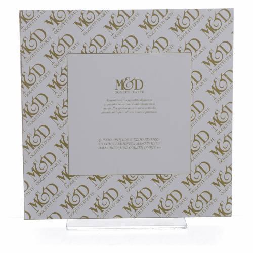 Cadre Mariage Ste Famille ivoire-brun 20x20 cm s2