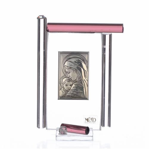Cadre Maternité arg. et verre Murano  h 9 cm s1