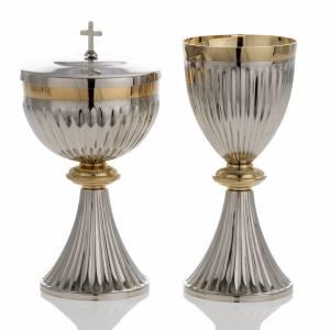 Calici Pissidi Patene metallo: Calice e pisside ottone stile impero
