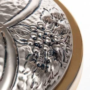 Cálices, Copones y Patenas metal: Conjunto 3 piezas cincelado uva y espigas