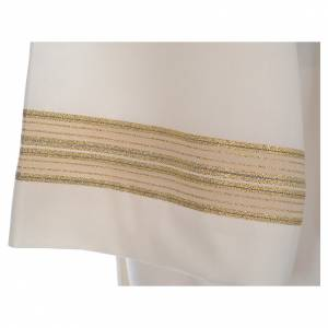 Camice avorio 55% pol. 45% lana doppio ritorto e stoffa tramata s5