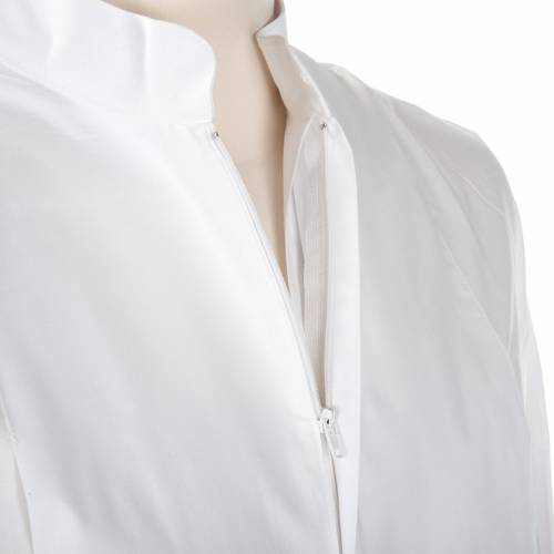 Camice bianco lana croce dorata s6