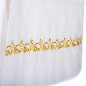 Camice bianco cotone decori dorati s4