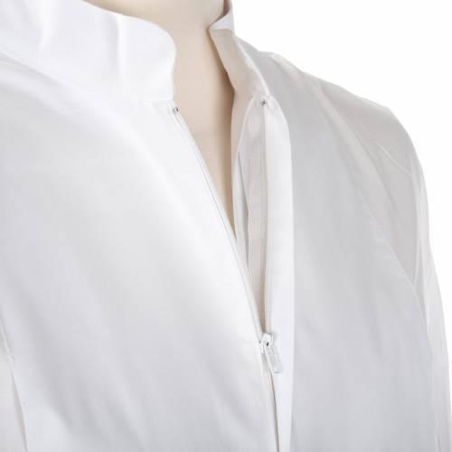 Camice bianco lana spiga uva s7