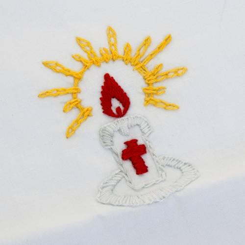 Camiseta para bautismo cirio encendido s4