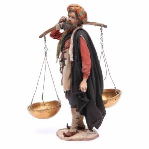 Pesebre Angela Tripi: Campesino con la balanza 30cm Angela Tripi terracota