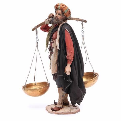 Campesino con la balanza 30cm Angela Tripi terracota s2