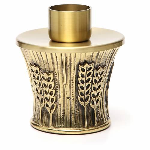 Candeliere Molina ottone dorato spighe s22