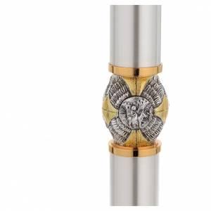 Candeliere ottone argentato con nodo cesellato s6