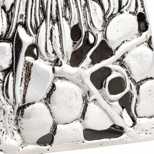 Candeliere ottone argentato fuso s4