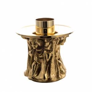 Candlestick made of cast brass s1