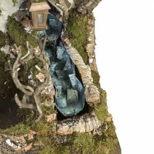 Capanne Presepe e Grotte: Capanna presepe 78x110x66 cm con cascata e focolare