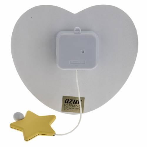 Carillon coeur blanc ange et étoile s3