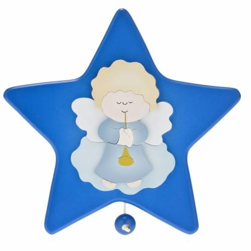 Carillon étoile avec petit ange gardien s1