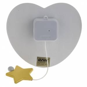 Carrillón corazón, ángel, estrella blanca A s3