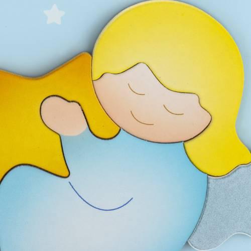 Carrillón corazón azul celeste Azur Loppiano 2