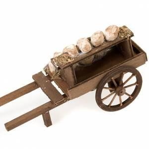 Carro de  madera con quesos terracota belén s3