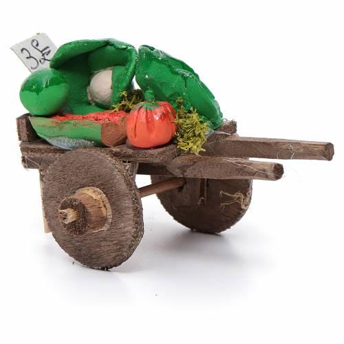 Carro napoletano presepe frutta ortaggi terracotta 5,5x7,5x5,5 c s2