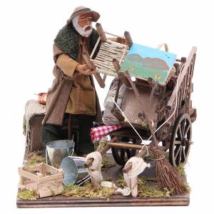 Cart of the evicted for animated Neapolitan Nativity, 14cm s1