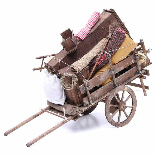 Cart of the evicted for Neapolitan Nativity, 24cm s1