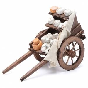 Neapolitan Nativity Scene: Cart with cheeses, Neapolitan Nativity 10x18x8cm
