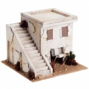 Ambientazioni, botteghe, case, pozzi: Casa araba con scala per presepe