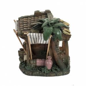 Casas, ambientaciones y tiendas: Casa con cortina para pesebre 6,5cm, Fontanini