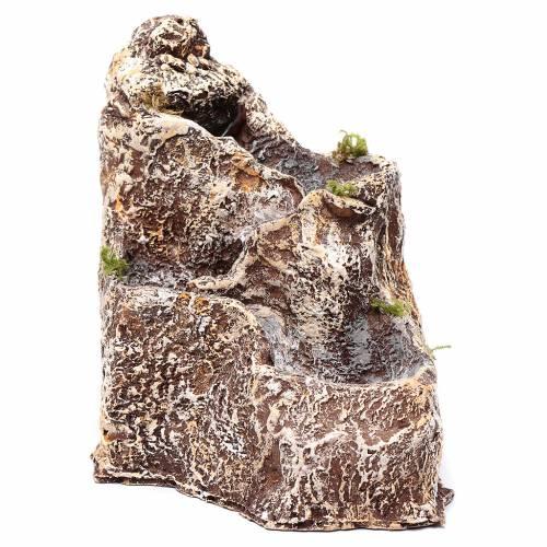 Cascades pour crèche en résine 23x18x28 cm s2