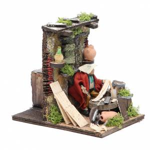 Cask mender animated figurine for Neapolitan Nativity, 10cm s3