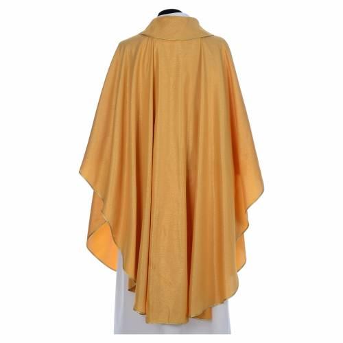 Casula dorata tessuto oro faille di mezza lana s3