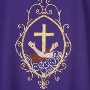 Casula liturgica e Stola stemma francescano s11