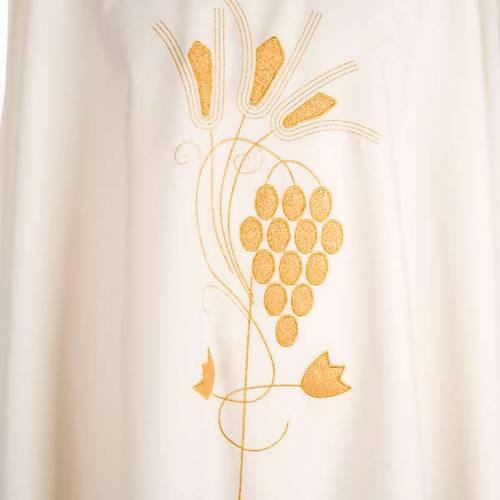 Casula liturgica uva e spighe dorate s3