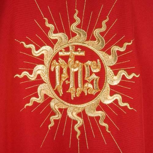 Casulla litúrgica con estola, sol y cruz s5