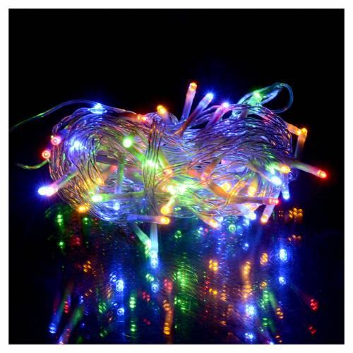 Catena luci Natale 80 led multicolor batteria timer esterno s2