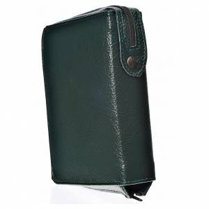 Catholic Bible covers: Catholic Bible Anglicised cover green bonded leather with image of Our Lady of Kiko