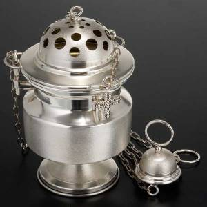 Censer and boat satin silver s2